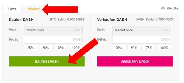 Dash kaufen auf Binance 4